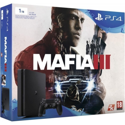 Sony PlayStation 4 Slim (PS4 Slim) 1TB + Mafia III