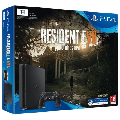 Sony PlayStation 4 Slim (PS4 Slim) 1TB + Resident Evil 7