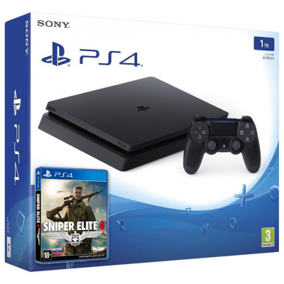 Sony PlayStation 4 Slim (PS4 Slim) 1TB + Sniper Elite