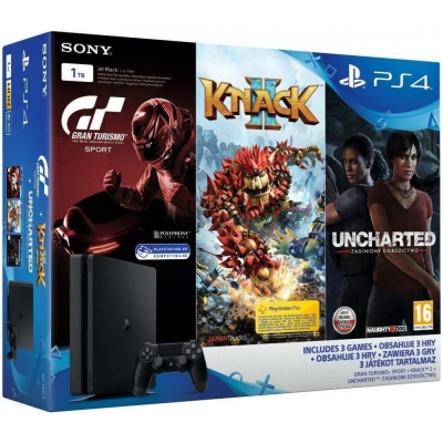 Sony PlayStation 4 Slim (PS4 Slim) 1TB + Gran Turismo Sport