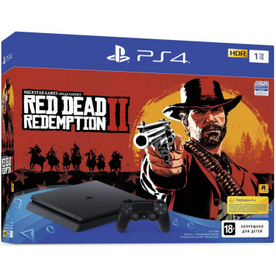 Sony PlayStation 4 Slim (PS4 Slim) 1TB + Red Dead Redemption 2