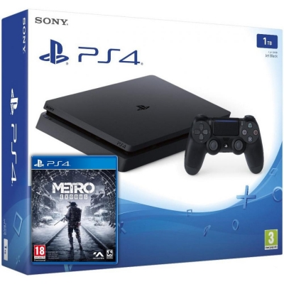 Sony PlayStation 4 Slim (PS4 Slim) 1TB + Metro Exodus