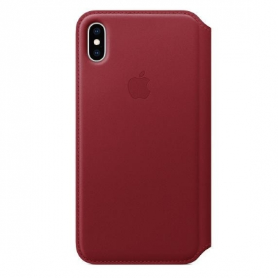 Чехол Apple Leather Case for iPhone XS Max Red