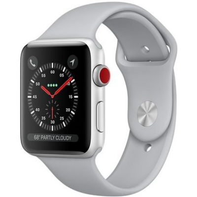 Apple Watch Series 3 GPS + LTE 38mm Silver Aluminum Case with White Sport Band