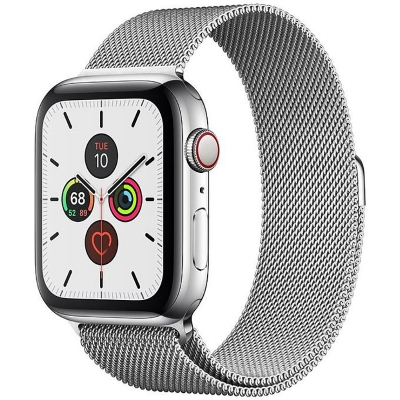 Смарт-часы Apple Watch Series 5 GPS + Cellular 40mm Stainless Steel Case with Milanese Loop