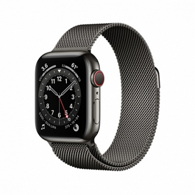 Смарт-часы Apple Watch Series 6 + LTE 40mm Graphite Stainless Case with Graphite Milanes Loop