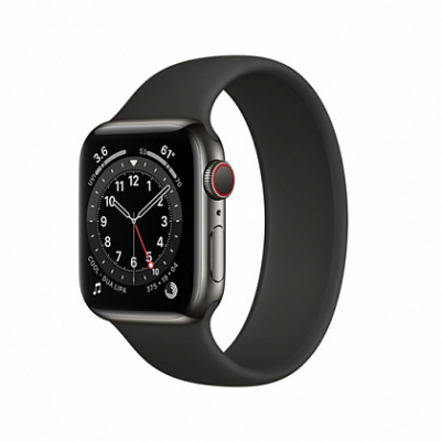Смарт-часы Apple Watch Series 6 + LTE 40mm Graphite Stainless Steel Case with Black Sport Band