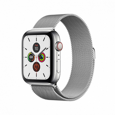 Смарт-часы Apple Watch Series 5 + LTE 40mm Stainless Steel Case with Silver Milanese Loop