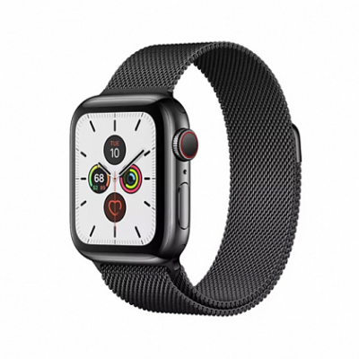 Смарт-часы Apple Watch Series 5 + LTE 40mm Space Black Stainless Steel Case with Black Milanese Loop
