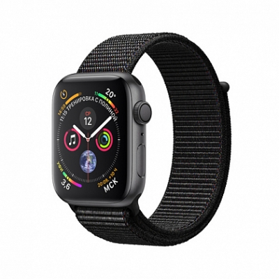 Смарт-часы Apple Watch Series 4 + LTE 40mm Space Gray (Темно-серый) Aluminum Case with Black Sport Loop