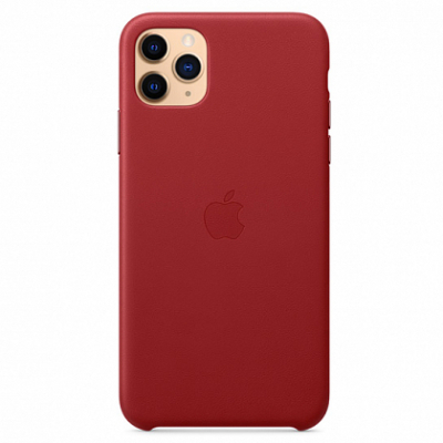Чехол Apple Leather Case for iPhone 11 Pro Max (PRODUCT)RED