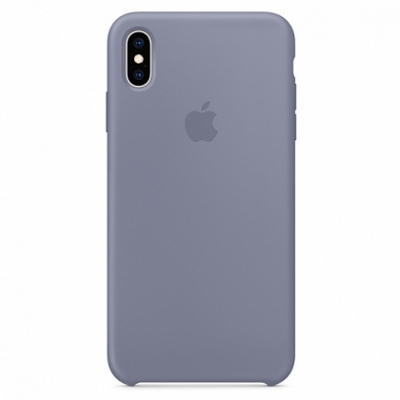Чехол Apple Silicone Case for iPhone XS Max Lavender Gray