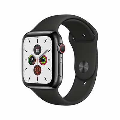Смарт-часы Apple Watch Series 5 + LTE 40mm Space Black Stainless Steel Case with Black Sport Band
