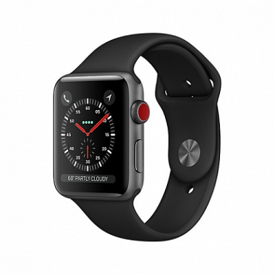 Смарт Часы Apple Watch Series 3 + LTE 38mm Space Gray Aluminum Case with Black Sport Band
