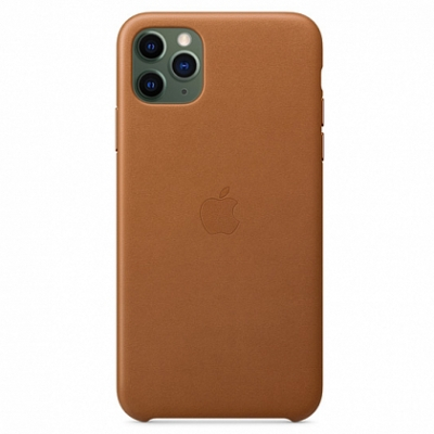 Чехол Apple Leather Case for iPhone 11 Pro Max Saddle Brown