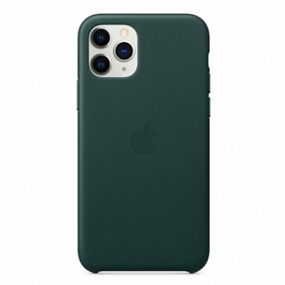 Чехол Apple Leather Case for iPhone 11 Pro Forest Green