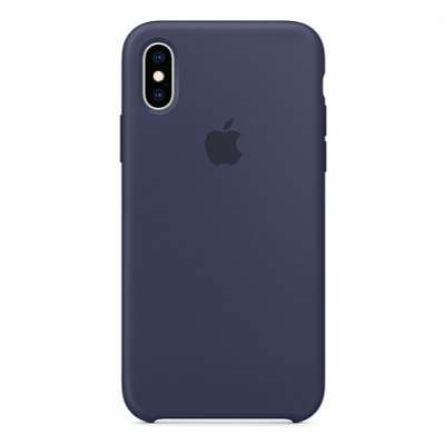 Чехол Apple Silicone Case for iPhone XS Midnight Blue