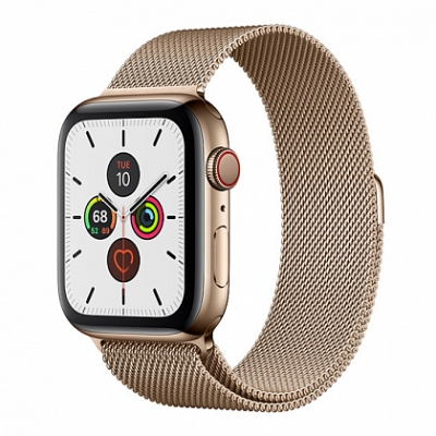 Смарт-часы Apple Watch Series 5 + LTE 44mm Gold Stainless Steel Case with Gold Milanese Loop