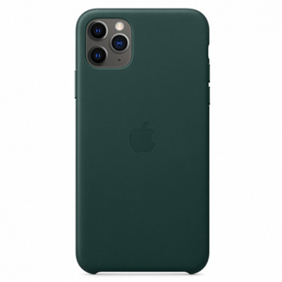 Чехол Apple Leather Case for iPhone 11 Pro Max Forest Green