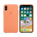 Чехол Apple Silicone Case for iPhone X Peach