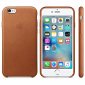 Чехол Apple Leather Case for iPhone 6/6S Saddle Brown
