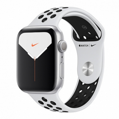 Смарт-часы Apple Watch Series 5 Nike+ 44mm Silver Aluminum Case with Pure Platinum/Black Sport Band