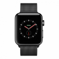 Смарт Часы Apple Watch Series 3 + LTE 42mm Space Black Stainless Steel Case with Space Black Milanes