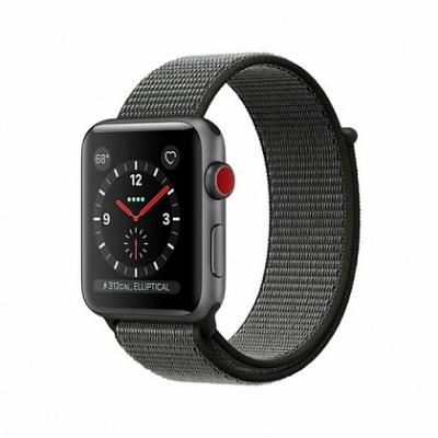 Смарт Часы Apple Watch Series 3 + LTE 38mm Space Gray Aluminum Case with Dark Olive Sport Band