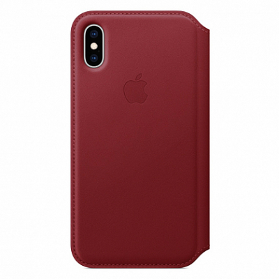Чехол Apple Leather Folio for iPhone XS (PRODUCT)RED