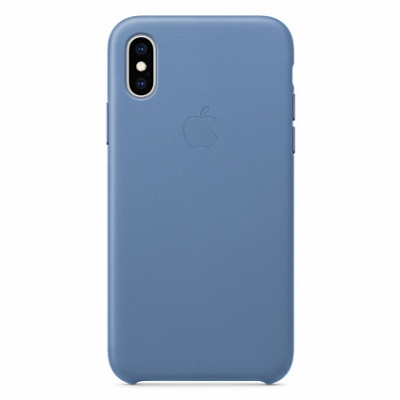Чехол Apple Leather Case for iPhone XS Cornflower