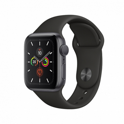 Смарт-часы Apple Watch Series 5 40mm Space Gray Aluminum Case with Black Sport Band