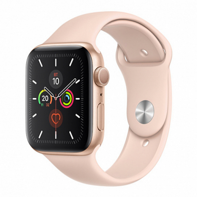 Смарт-часы Apple Watch Series 5 44mm Gold Aluminum Case with Pink Sand Sport Band